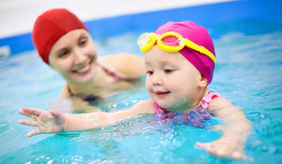Teaching swimming at A Star Swim School